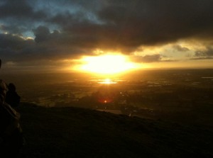 Sunrise 21 December 2012, Glastonbury UK